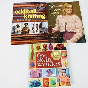 Knitting Crochet Book Lot 3 Leftover Yarn Odd Ball